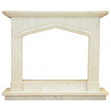 kominek marmurowy portal kominkowy Oxford biały marmur