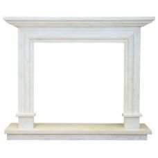 kominek marmurowy portal kominkowy Palermo biały marmur