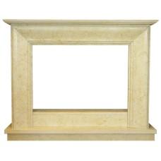 kominek marmurowy portal kominkowy Rimini marmur jerusalem gold