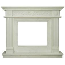kominek marmurowy portal kominkowy Toledo biały marmur