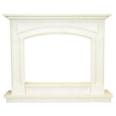 kominek marmurowy portal kominkowy Verona biały marmur
