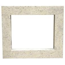 rama portalowa kominkowa 10 cm - 750 x 522 mm - granit Kashmir White