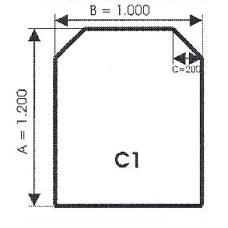 szyba hartowana pod piec kominek C1