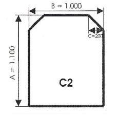 szyba hartowana pod piec kominek C2