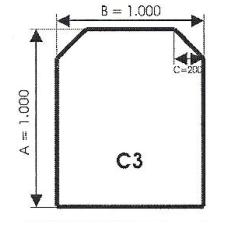 szyba hartowana pod piec kominek C3