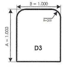 szyba hartowana pod piec kominek D3