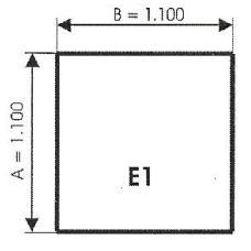 szyba hartowana pod piec kominek E1