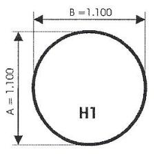 szyba hartowana pod piec kominek H1