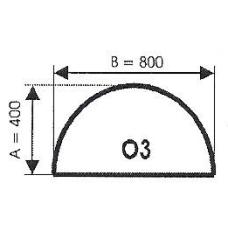 szyba hartowana pod piec kominek O3