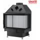 wkład kominkowy Unico Dragon 4B prawa szyba jednolita