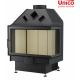 wkład kominkowy Unico Dragon 4B prawa szyba dzielona